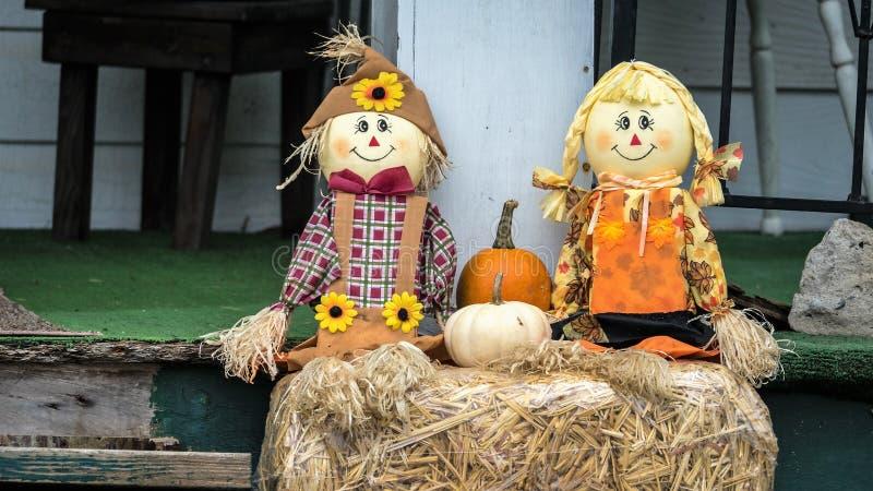 Decorazioni di Halloween di caduta immagini stock
