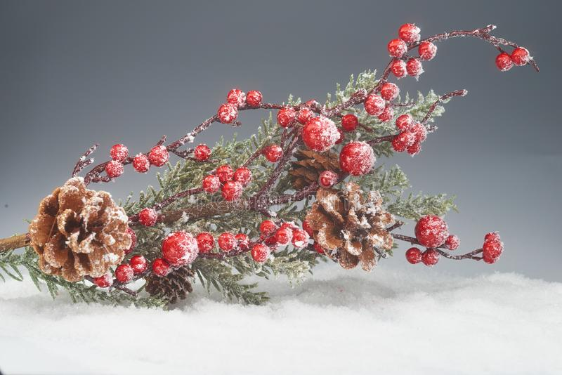 Decorazioni di inverno di Natale fotografia stock