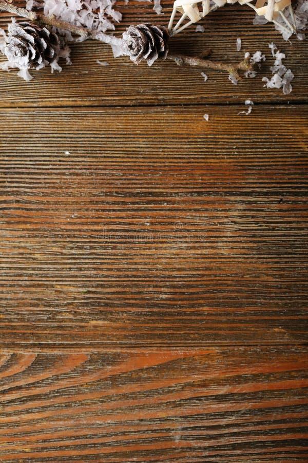 Decorazioni di legno di Natale immagini stock