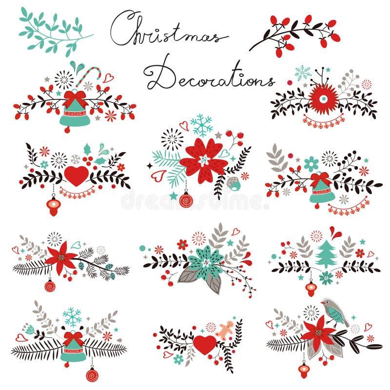 Decorazioni di Natale illustrazione vettoriale