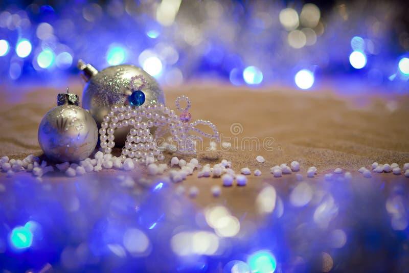 Decorazioni di Natale con gli angeli fotografia stock