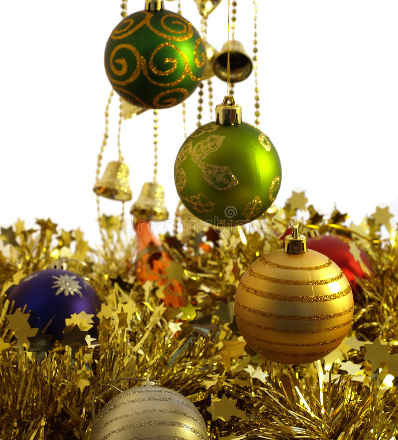 Download Decorazioni Di Natale Dell'oro Immagine Stock - Immagine di disegno, decorativo: 7320591
