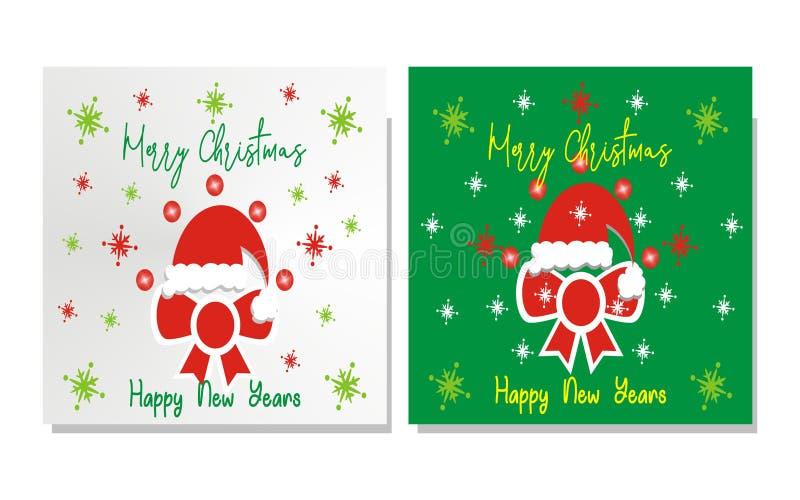 Decorazioni di Natale delle azione di vettore della cartolina d'auguri di Natale fotografie stock