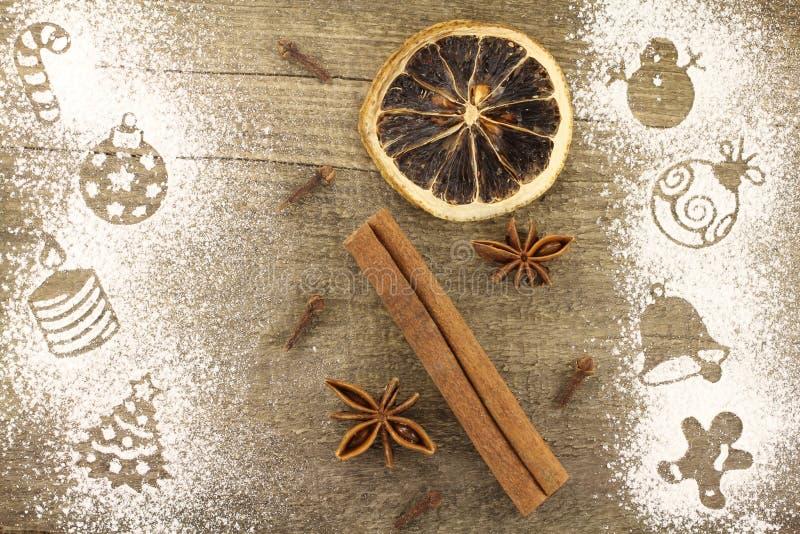 Decorazioni di Natale dello stampino fotografia stock