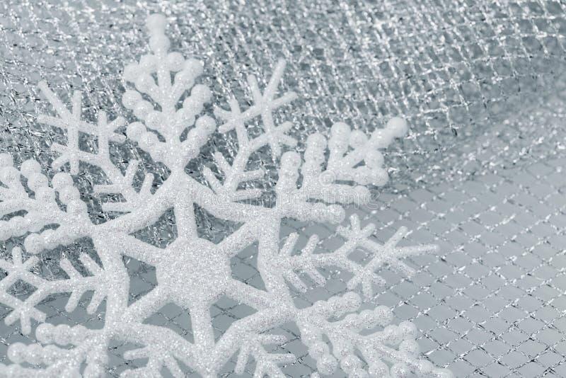 Decorazioni di natale - fiocco di neve immagine stock