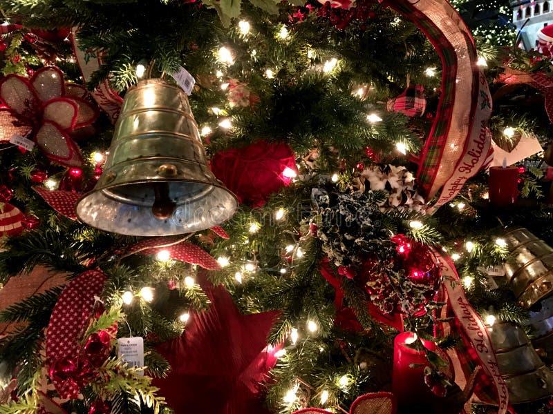 Decorazioni di Natale, polo nord, Oklahoma City fotografia stock