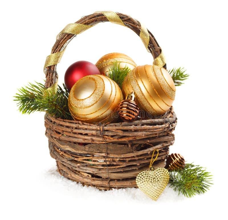 Decorazioni di Natale su un fondo bianco fotografie stock libere da diritti