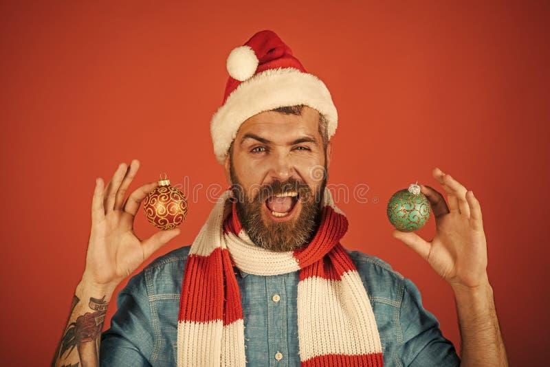 Decorazioni ed ornamenti di festa di Natale fotografia stock libera da diritti
