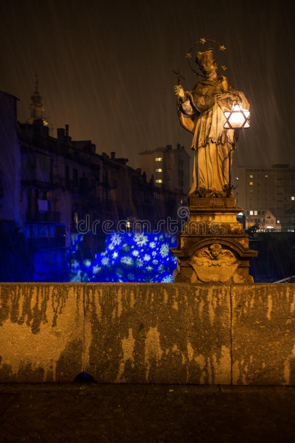 Decorazioni natalizie een Chiavenna royalty-vrije stock fotografie