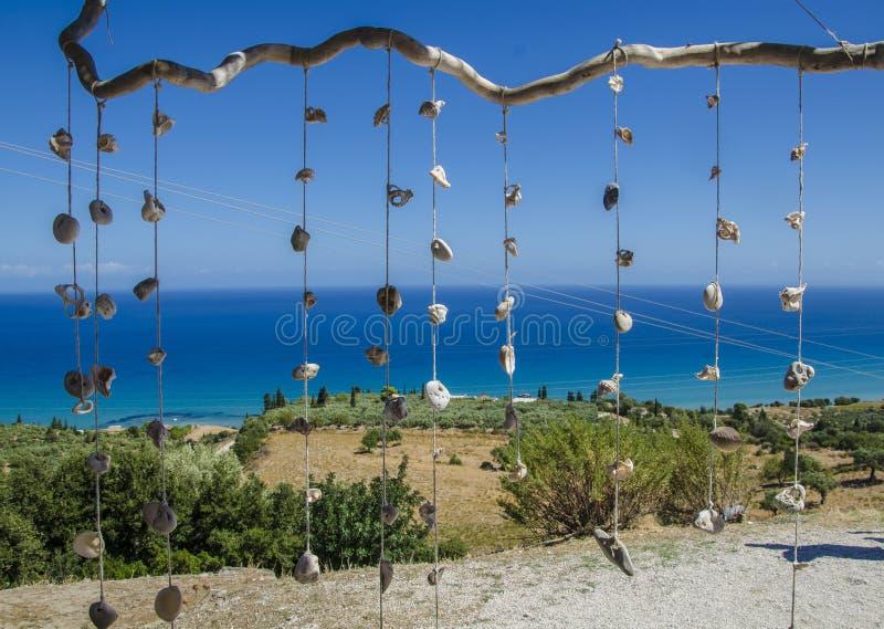Decoretion avec la corde et les coquillages photo libre de droits
