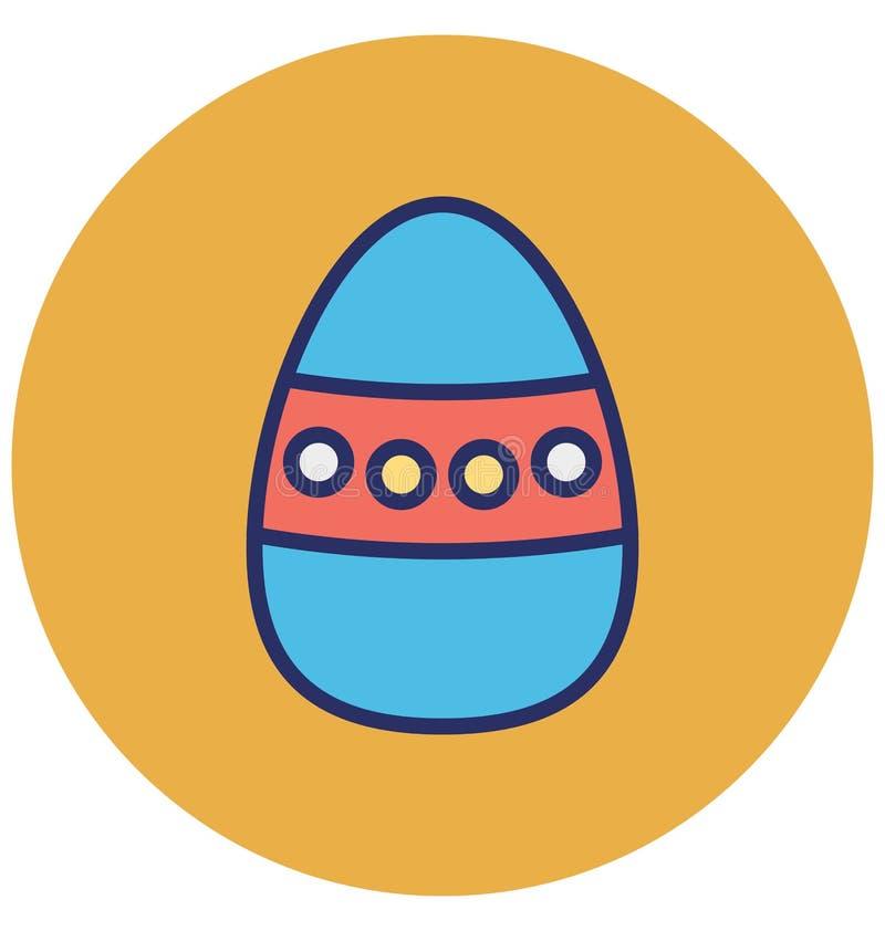 Decori, icona punteggiata di vettore isolata uovo che può modificare o pubblicare facilmente illustrazione di stock