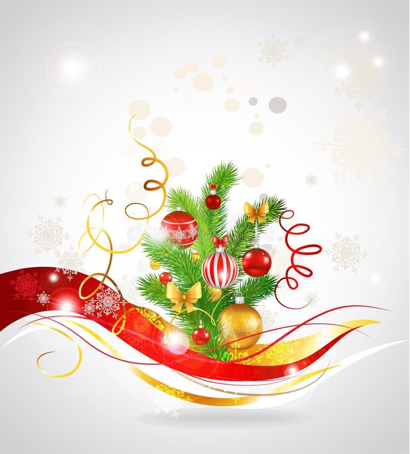 Decorou belamente pouca árvore de Natal. ilustração royalty free