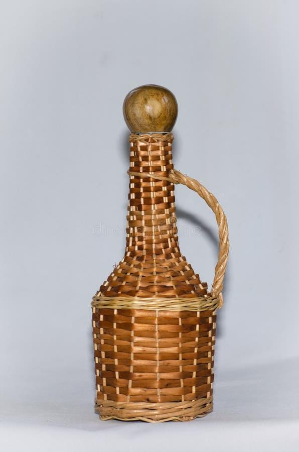Decoupage butelka obrazy royalty free
