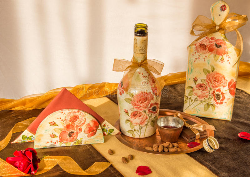 Download Decoupaged household items stock photo. Image of decoration - 43717792