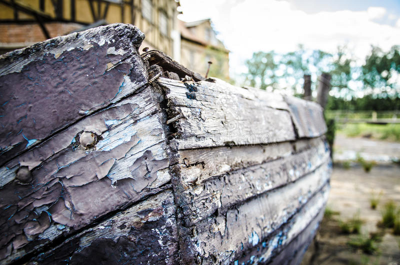Decrepit boat stock photos