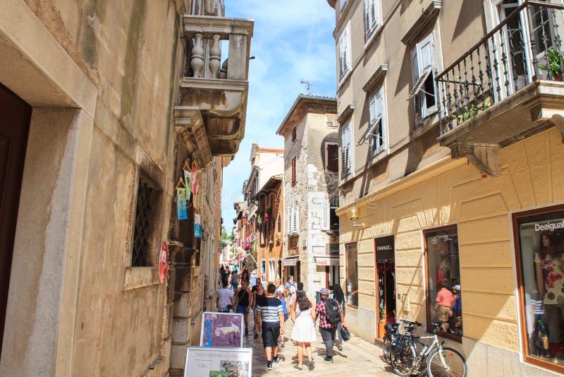Decumanus ulica, Porec obrazy royalty free