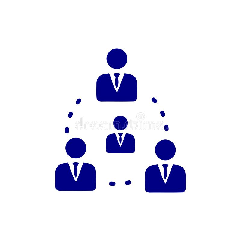 Decyzja biznesowa, plan biznesowy, podejmowanie decyzji, zarządzanie, plan, planowanie, strategia koloru błękitna ikona royalty ilustracja