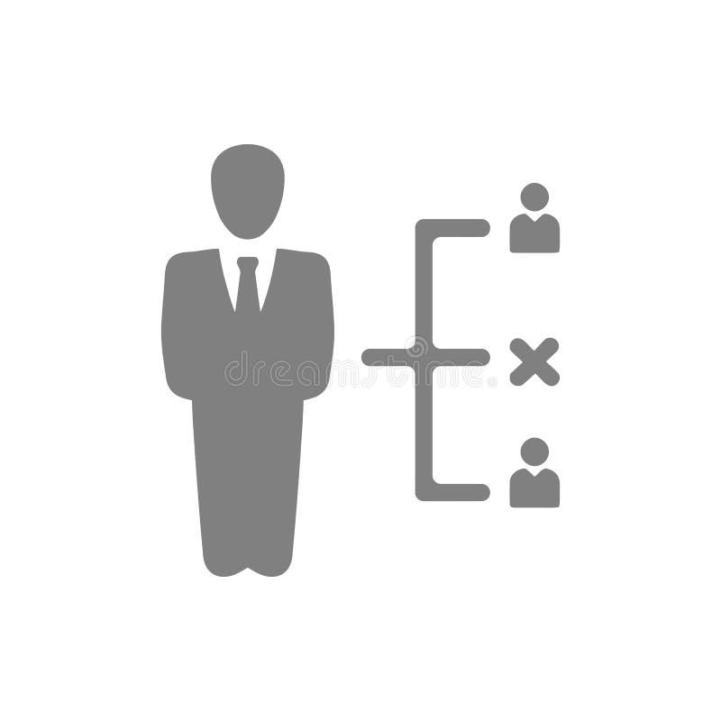 Decyzja biznesowa, plan biznesowy, podejmowanie decyzji, zarządzanie, plan, planowanie, strategia koloru popielata ikona ilustracji