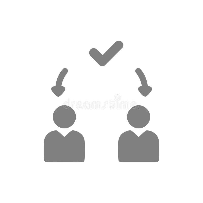 Decyzja biznesowa, plan biznesowy, podejmowanie decyzji, zarządzanie, plan, planowanie, strategia koloru popielata ikona royalty ilustracja