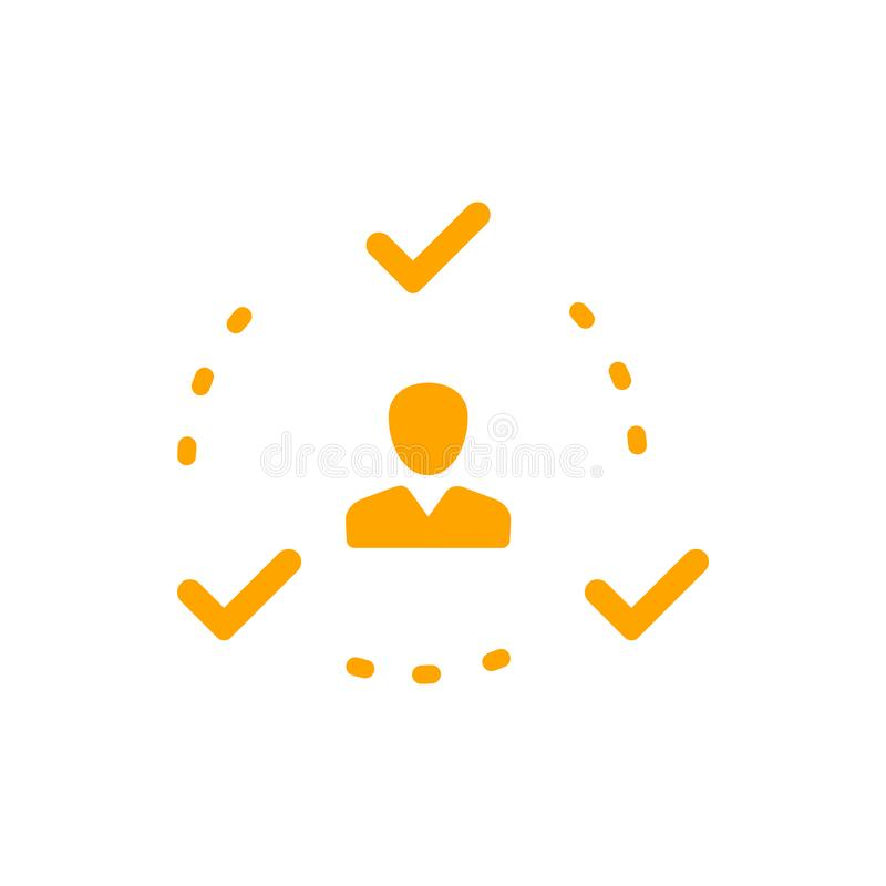 Decyzja biznesowa, plan biznesowy, podejmowanie decyzji, zarządzanie, plan, planowanie, strategii ikona ilustracja wektor