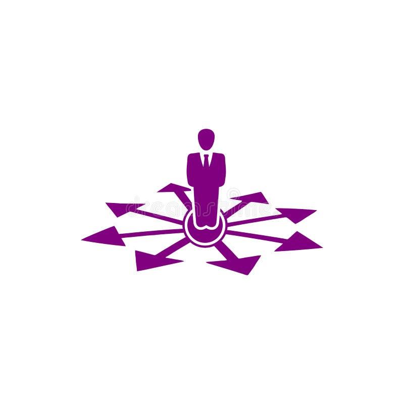 Decyzja biznesowa, plan biznesowy, podejmowanie decyzji, zarządzanie, plan, planowanie, strategii purpura barwi ikonę ilustracji