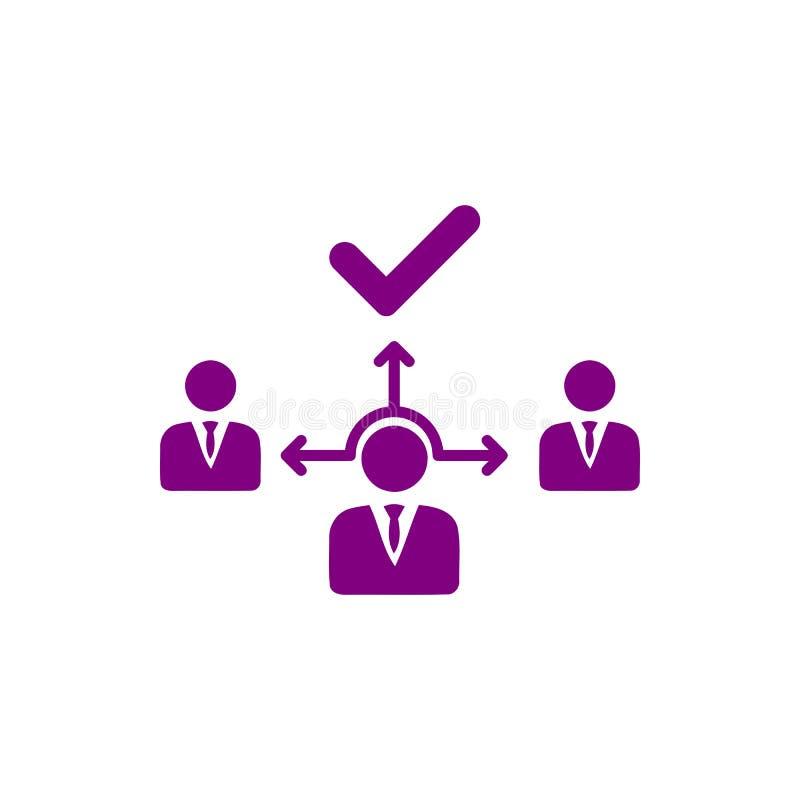 Decyzja biznesowa, plan biznesowy, podejmowanie decyzji, zarządzanie, plan, planowanie, strategii purpura barwi ikonę royalty ilustracja