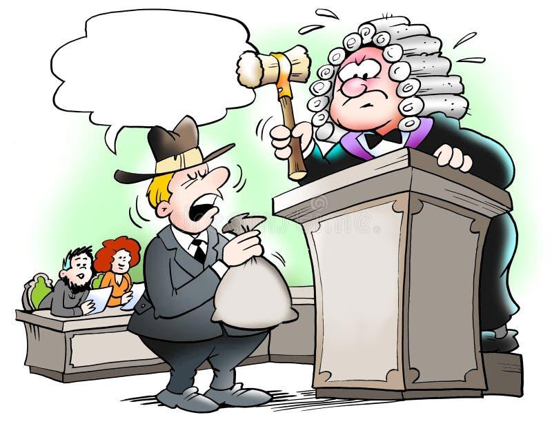 Decyzja w postępowania sądowe royalty ilustracja