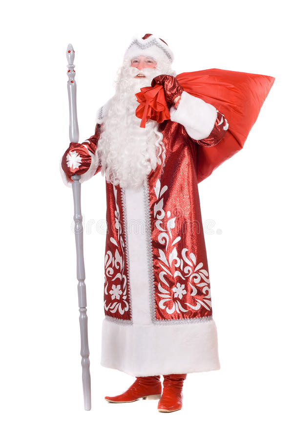 Download Ded Moroz with the bag stock image. Image of nicholas - 22525327