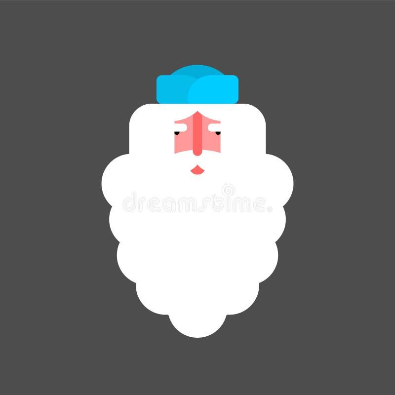Ded Moroz vänder mot Nationella traditionella folk ryska Santa Claus honom vektor illustrationer