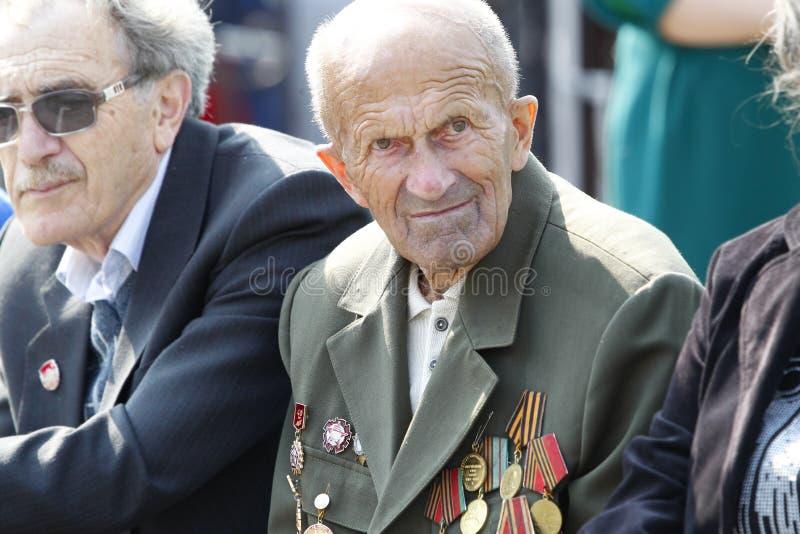 Ded veteran av det andra världskriget fotografering för bildbyråer
