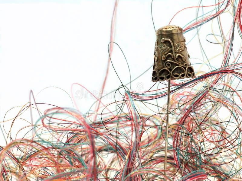 Dedal y cuerda de rosca antiguos 2 foto de archivo libre de regalías