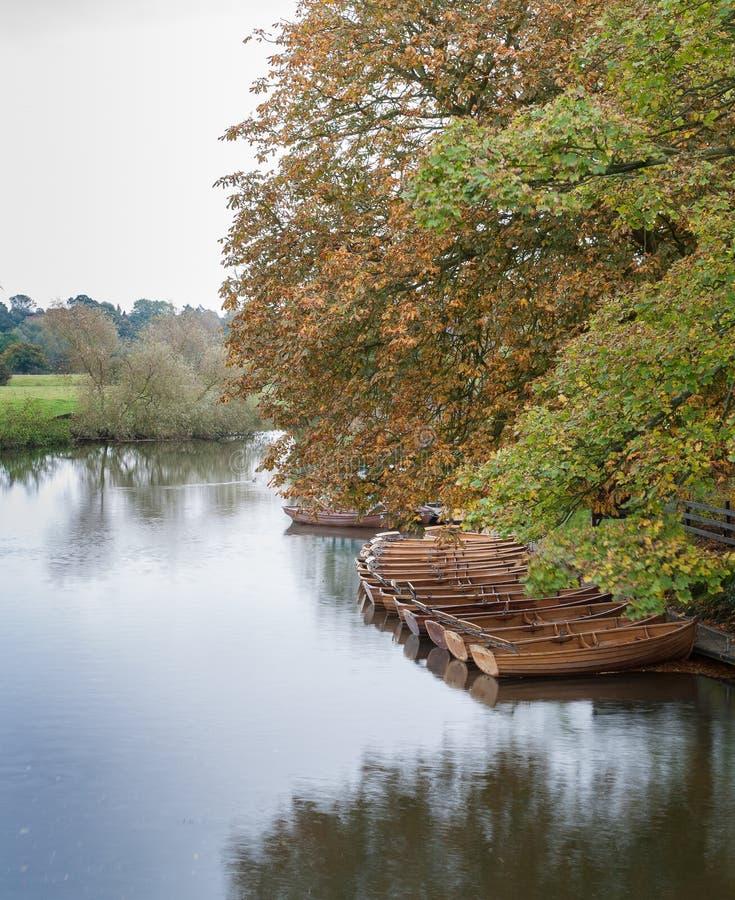 Dedham dzierżawienia łodzie obraz royalty free
