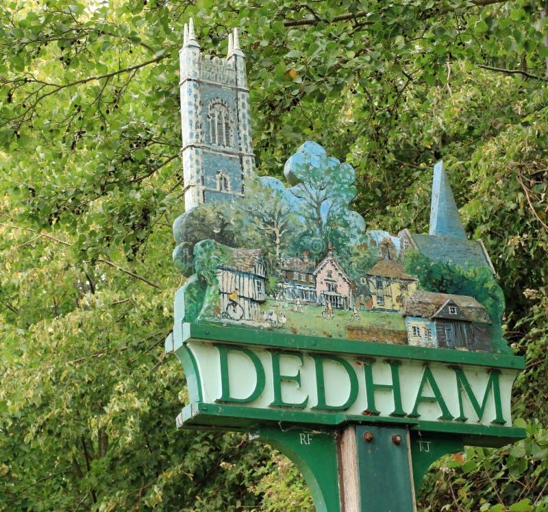 Dedham Village Sign royalty free stock images