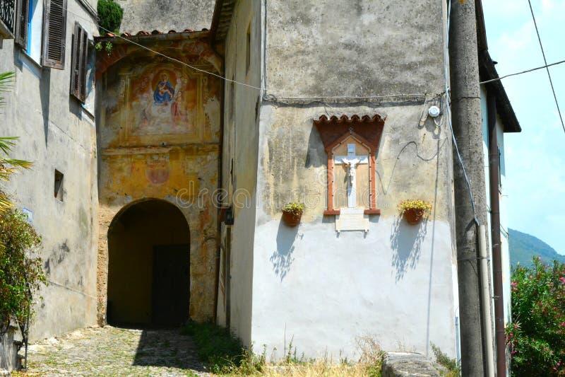 Dedicación religiosa en Monteggiori, Camaiore imagen de archivo