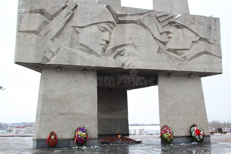Dedicado conmemorativo a la Segunda Guerra Mundial, Bielorrusia fotografía de archivo