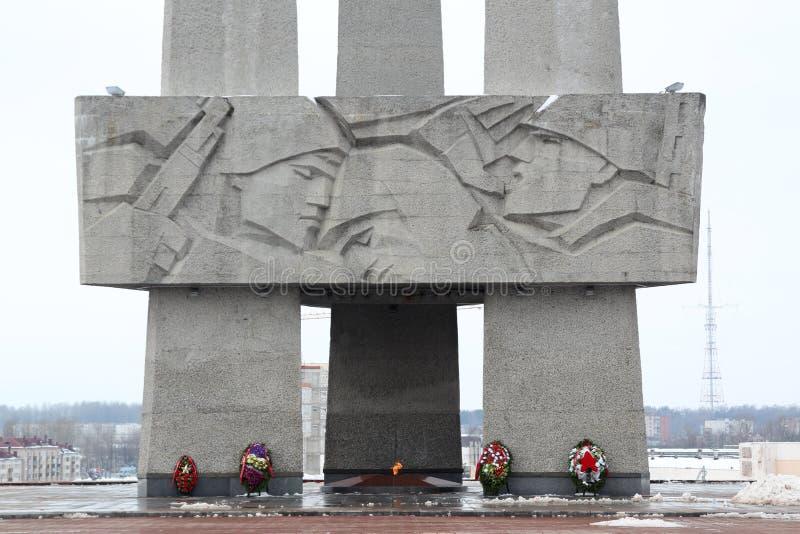 Dedicado conmemorativo a la Segunda Guerra Mundial, Bielorrusia fotos de archivo