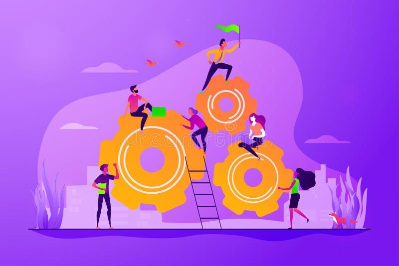 Dedicated team concept vector illustration royalty free illustration