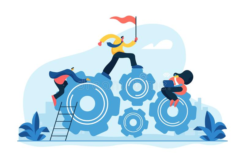 Dedicated team concept vector illustration stock illustration