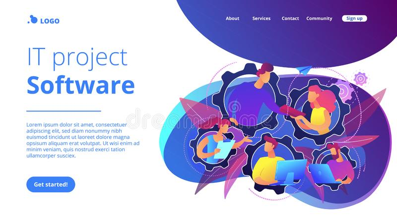 Dedicated team it concept vector illustration stock illustration