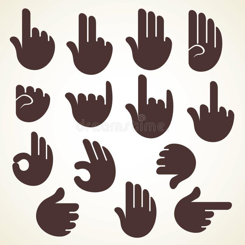 Dedo criativo da mostra do sinal ou do sinal à mão ilustração do vetor