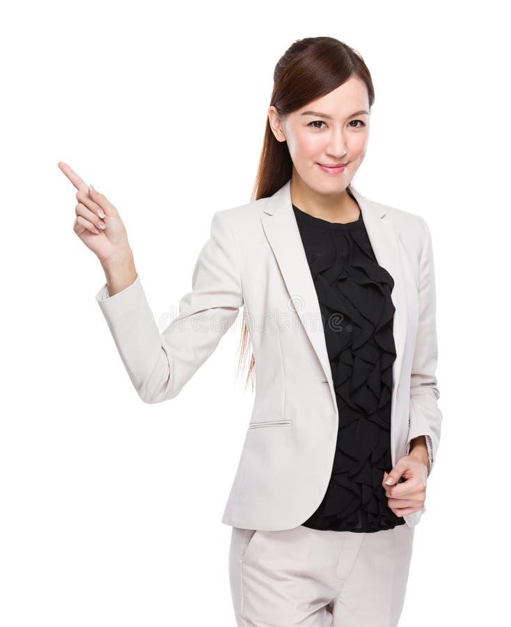 Dedo da mulher de negócios acima fotos de stock royalty free