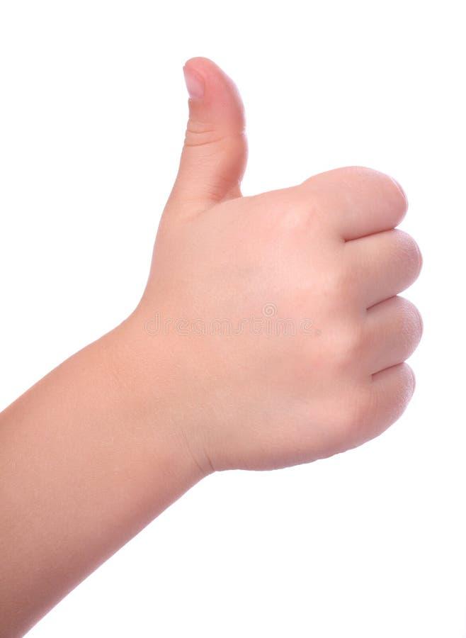 Dedo del niño para arriba imágenes de archivo libres de regalías