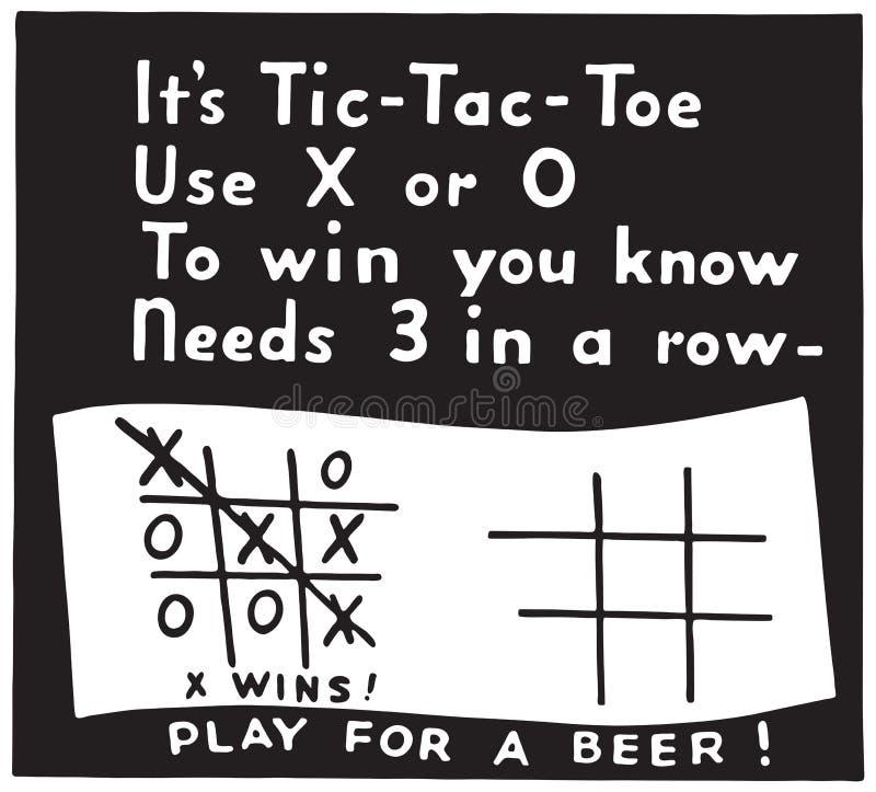 Dedo do pé de Tic Tac ilustração royalty free