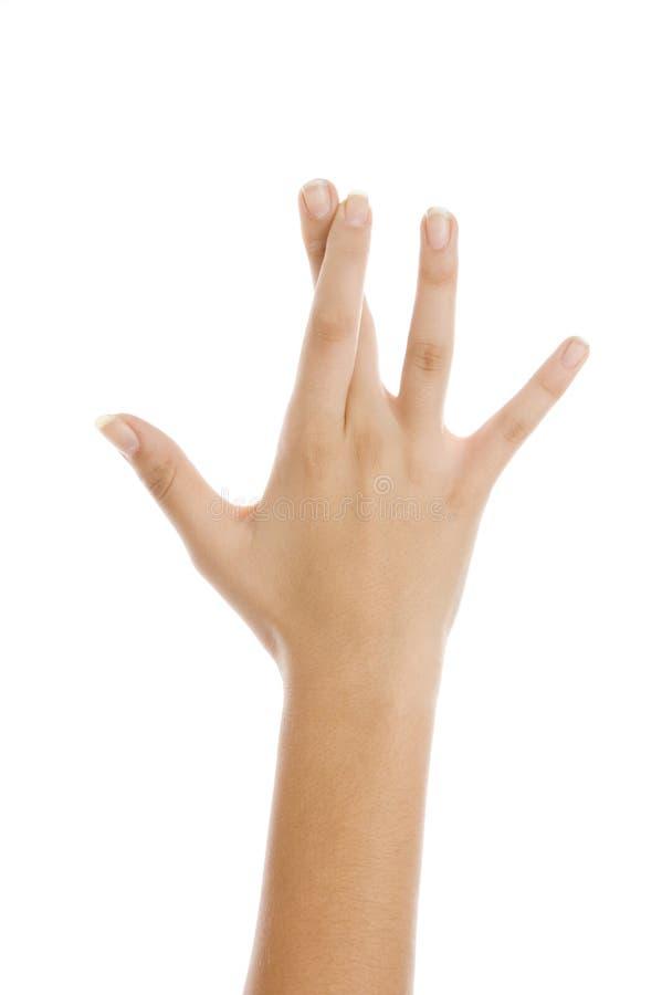 Dedos cruzados imagen de archivo libre de regalías