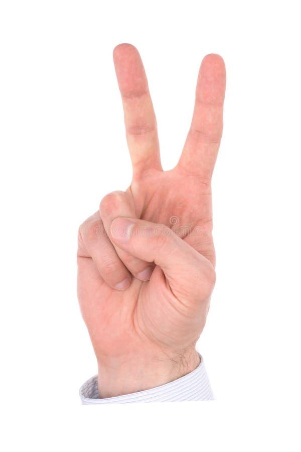 Dedos de la mano, número foto de archivo