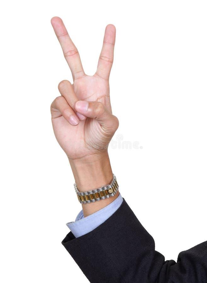 Dedos número dos que cuenta foto de archivo