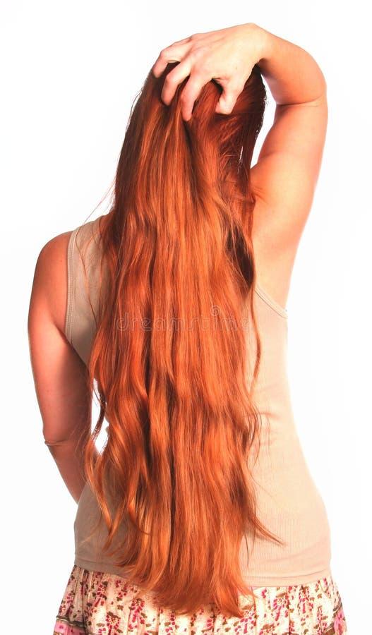 Dedos Running da mulher através do cabelo imagem de stock royalty free
