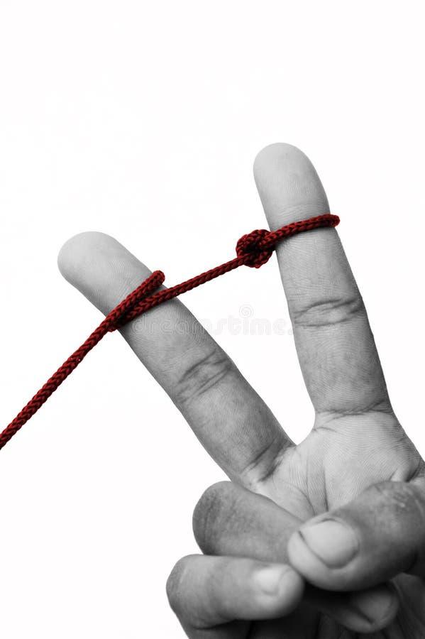 Dedos unidos imagens de stock royalty free