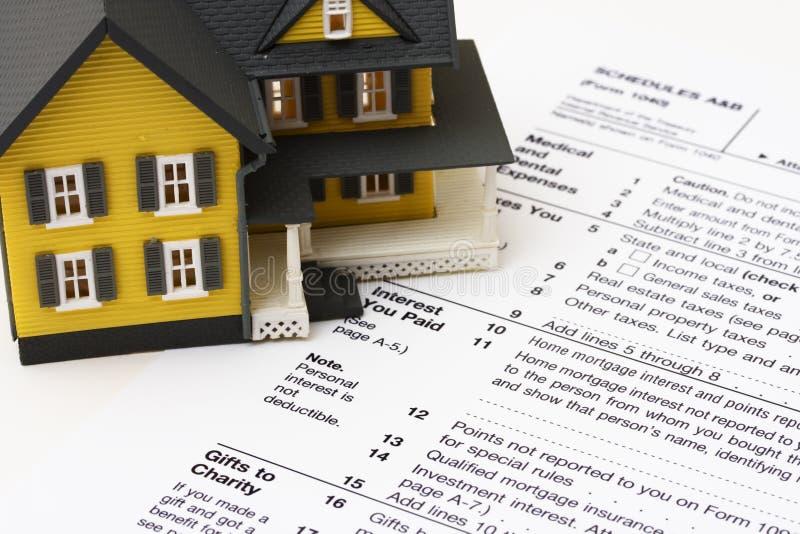 Dedução do interesse de hipoteca imagens de stock