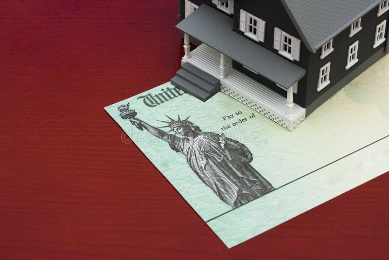 Deduções da hipoteca fotos de stock